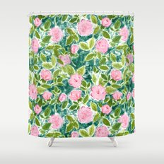 Roses in Bloom Shower Curtain