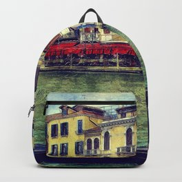 Venice Channel Gondola Italy Architecture Backpack