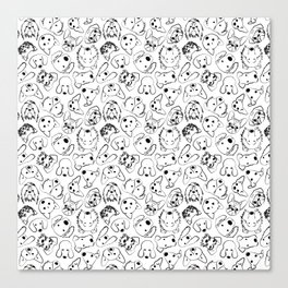 Dogs pattern Canvas Print