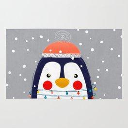 Christmas Penguin Rug