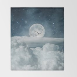 Fly Me to the Moon Throw Blanket