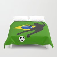 brazil Duvet Covers featuring Brazil - WWC by Alrkeaton