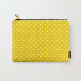 Dots (White/Gold) Carry-All Pouch
