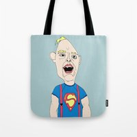 goonies Tote Bags featuring The Goonies by Elena Éper