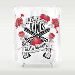 Illuminae - Death Blooms Shower Curtain