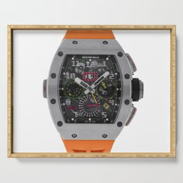 Richard Mille 11-02 Titanium Flyback Chronograph Dual Time Zone 50MM Watch Serving Tray