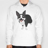 terrier Hoodies featuring Boston Terrier by Sarah