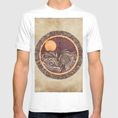 It All Aligns Mens Fitted Tee MEDIUM White