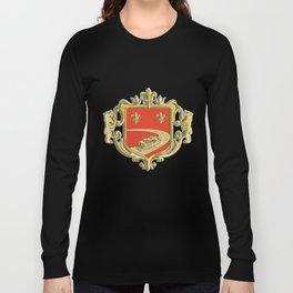 Steamboat Fleur De Lis Coat of Arms Retro Long Sleeve T-shirt