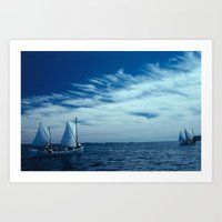 Maine Coast Sailing with Hurricane Island Outward Bound Art Print