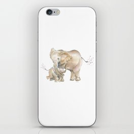 Mother's Love - Elephant Family iPhone Skin