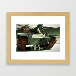 Tank game Framed Art Print
