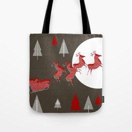 Flying Santa Tote Bag