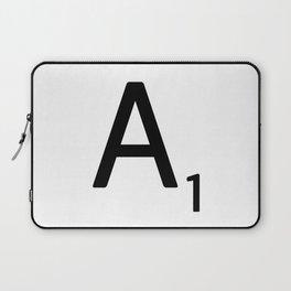 Letter A - Custom Scrabble Letter Wall Art - Scrabble A Laptop Sleeve
