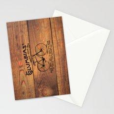 Black Brown Vintage American Bicycle on Wood Print Stationery Cards