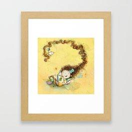 Greña ~ Crazy Hair Orange Framed Art Print