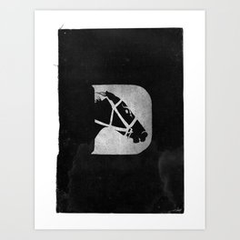 D is for Derby Art Print