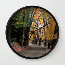 Bend in the Buffalo Road Wall Clock
