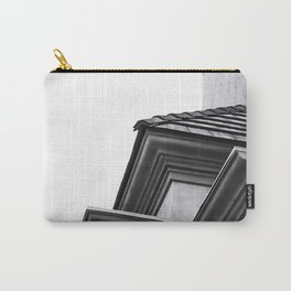 buildings in the city in black and white Carry-All Pouch