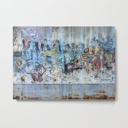 Graffiti Wall 2 Metal Print