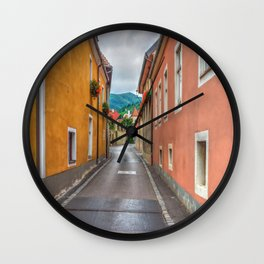 Geraniums all in a Row Wall Clock