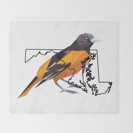 Maryland – Baltimore Oriole Throw Blanket