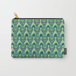 Peacock Feather Print Carry-All Pouch
