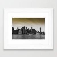manhattan Framed Art Prints featuring Manhattan by Forand Photography