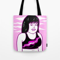 runner Tote Bags featuring the runner by Mike Force