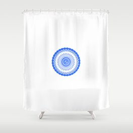 Snowflake #008 transparent Shower Curtain