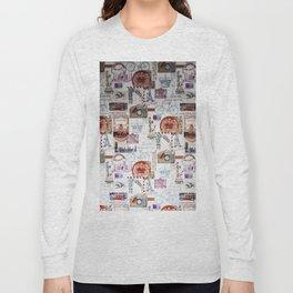 Vintage Paris London USA travel propaganda Long Sleeve T-shirt