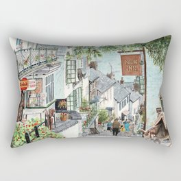 Clovelly, Devon. Rectangular Pillow