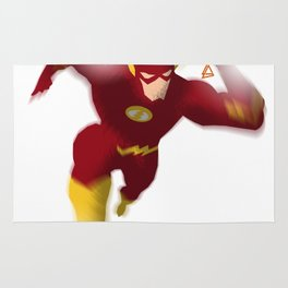 The Flash minimalist Splash Poster Rug