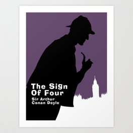 The Sign of Four -Sherlock Holmes Art Print