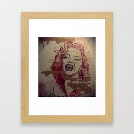 Makeup Marilyn Framed Art Print