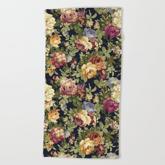 Floral Garden Beach Towel
