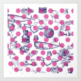 Poka Dots Art Print