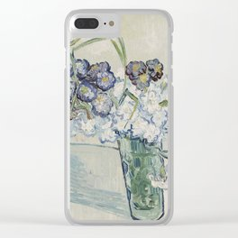 Vincent Van Gogh - Still Life Glass with Carnations, 1890 Clear iPhone Case