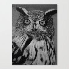 Owl B&W Canvas Print