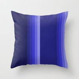 dark blue stipes home decor Throw Pillow