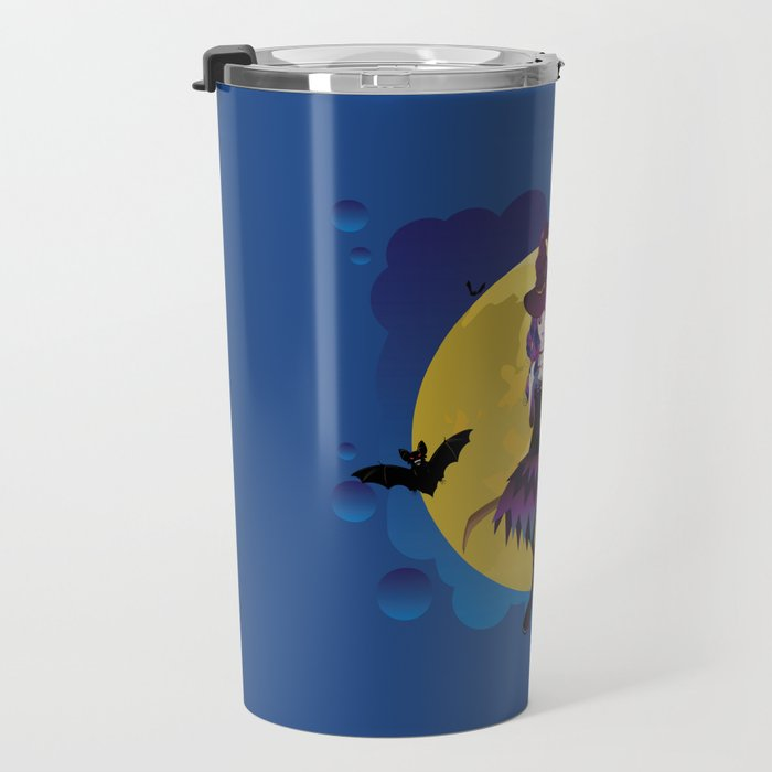 Full moon and witch Travel Mug