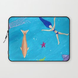 Ocean Relaxation in a Tropical Bliss Laptop Sleeve