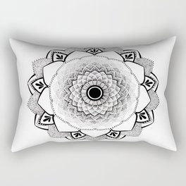 Mandala B&W II Rectangular Pillow