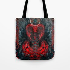 Seen Through Flames and Ashes Tote Bag