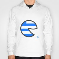 greece Hoodies featuring Greece Smile by onejyoo