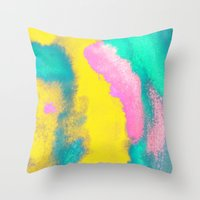 florida Throw Pillows featuring Florida by elena + stephann
