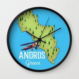 Andros Greece. Wall Clock