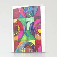 stained glass Stationery Cards featuring Stained Glass by SaraLaMotheArt