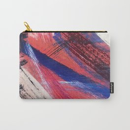Los Angeles: A vibrant, abstract piece in reds and blues by Alyssa Hamilton Art Carry-All Pouch