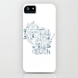 Wisconsin Up North Collage iPhone Case